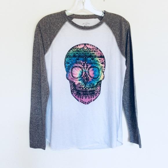ffa2dbe9c Billabong Tops   Rainbow Skull Raglan Graphic T Shirt   Poshmark